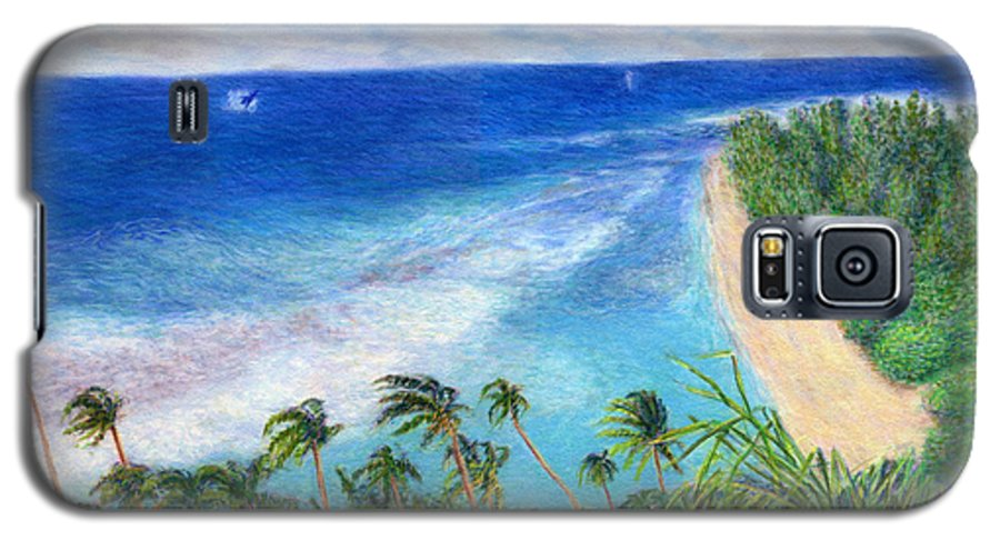 Rainbow Colors Pastel Galaxy S5 Case featuring the painting Windblown by Kenneth Grzesik
