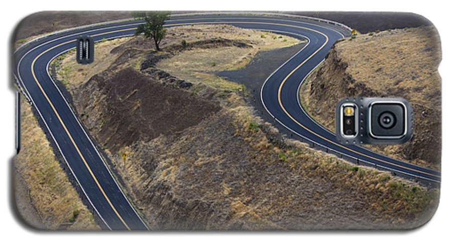 Road Galaxy S5 Case featuring the photograph Winding Road by Idaho Scenic Images Linda Lantzy