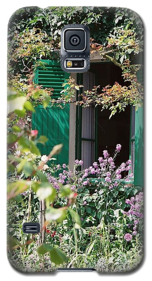 Charming Galaxy S5 Case featuring the photograph Window To Monet by Nadine Rippelmeyer