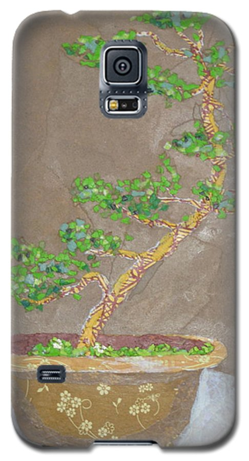 Banzai Tree Galaxy S5 Case featuring the painting Windswept Juniper by Leah Tomaino