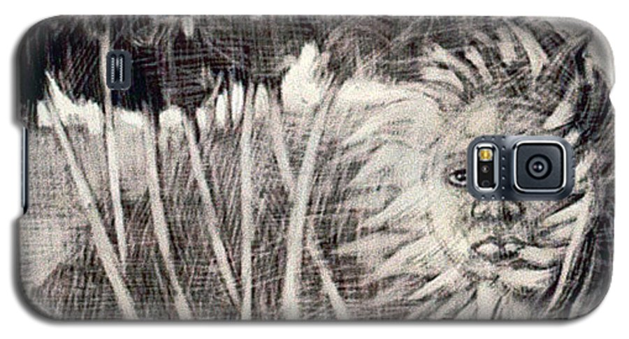 Galaxy S5 Case featuring the mixed media Windy by Chester Elmore