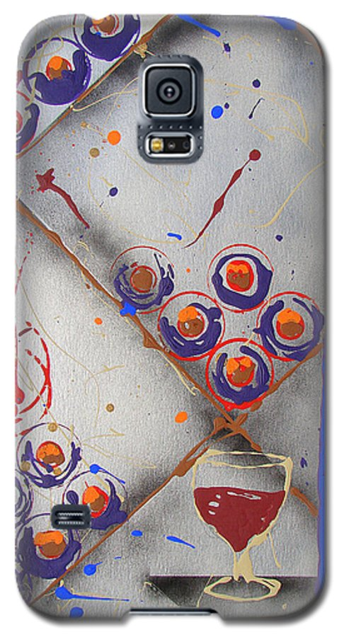 Wine Galaxy S5 Case featuring the painting Wine Connoisseur by J R Seymour