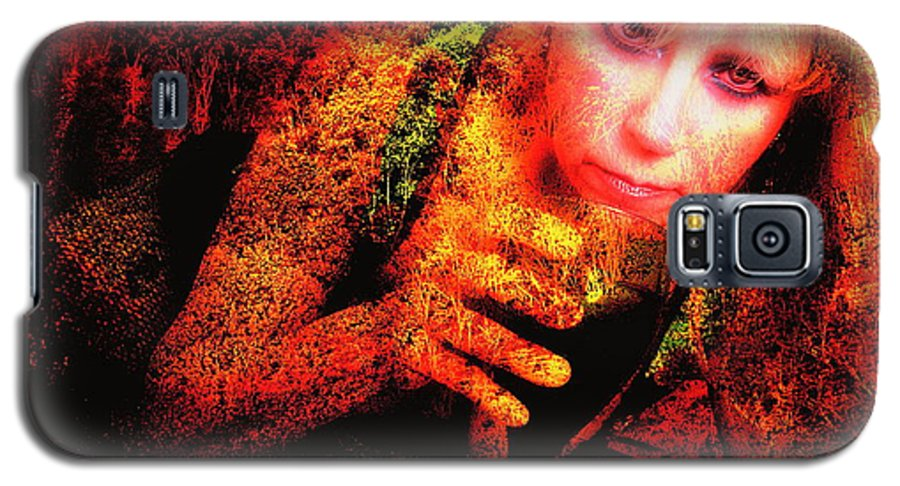 Clay Galaxy S5 Case featuring the photograph Wine Woman And Fall Colors by Clayton Bruster