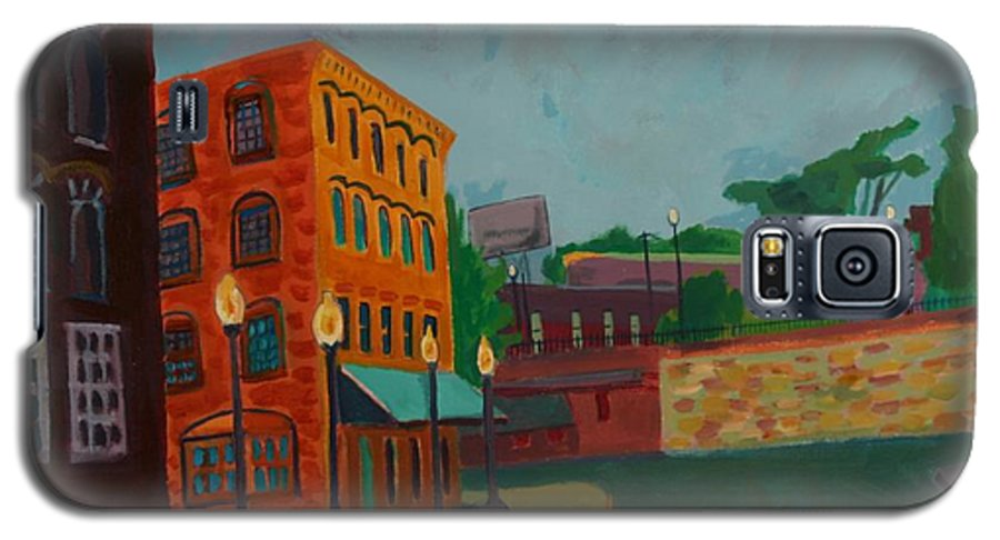 Cityscape Galaxy S5 Case featuring the painting Wingate Street by Debra Bretton Robinson