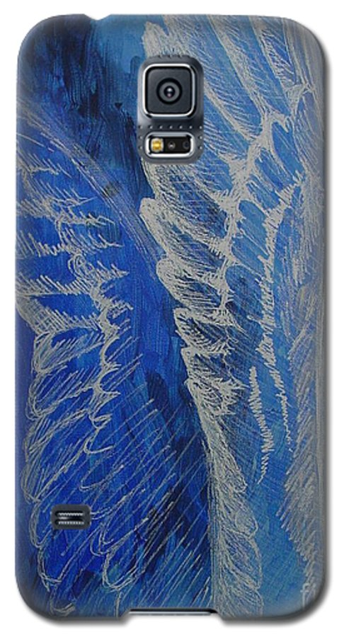 Acrylic Galaxy S5 Case featuring the painting Wings Of Angel by Jindra Noewi
