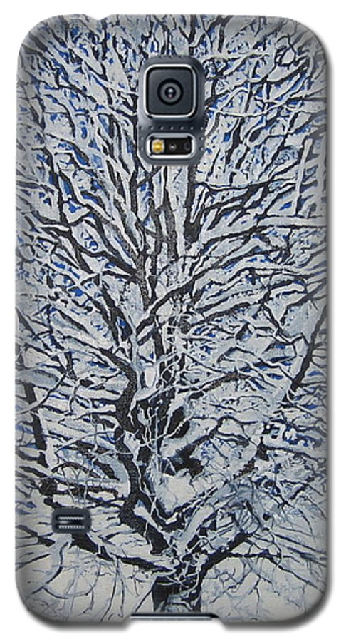 Winter Galaxy S5 Case featuring the painting Winter '05 by Leah Tomaino