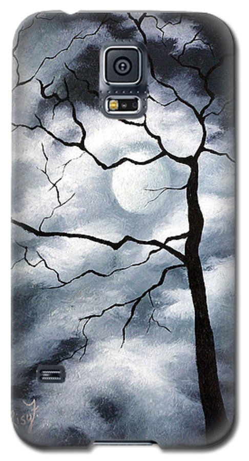 Winter Galaxy S5 Case featuring the painting Winter Evening by Elizabeth Lisy Figueroa