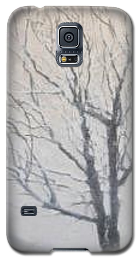 Tree Galaxy S5 Case featuring the painting Winter by Leah Tomaino