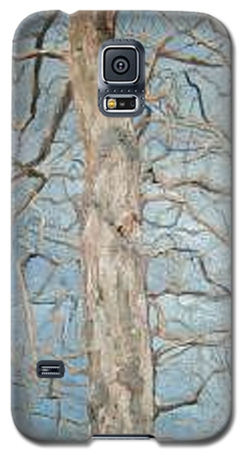 Tree Galaxy S5 Case featuring the painting Winter Morning by Leah Tomaino
