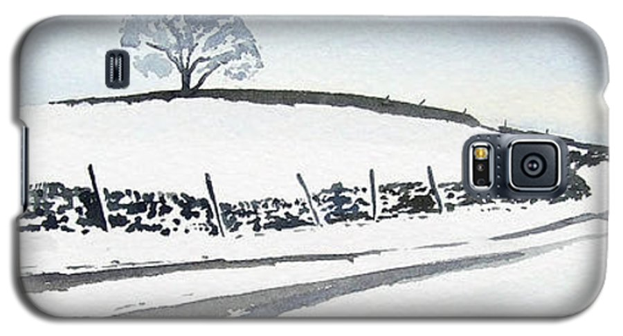 Snowscene In The Yorkshire Dales Galaxy S5 Case featuring the painting Winter Snow In The Dales by Paul Dene Marlor