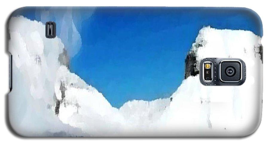 Landacape Galaxy S5 Case featuring the digital art Winter Wind by Dr Loifer Vladimir