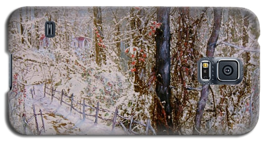 Snow; Trees Galaxy S5 Case featuring the painting Winter Wonderland by Ben Kiger