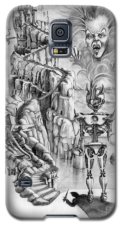 Witch Galaxy S5 Case featuring the drawing Witch Hunter by Murphy Elliott