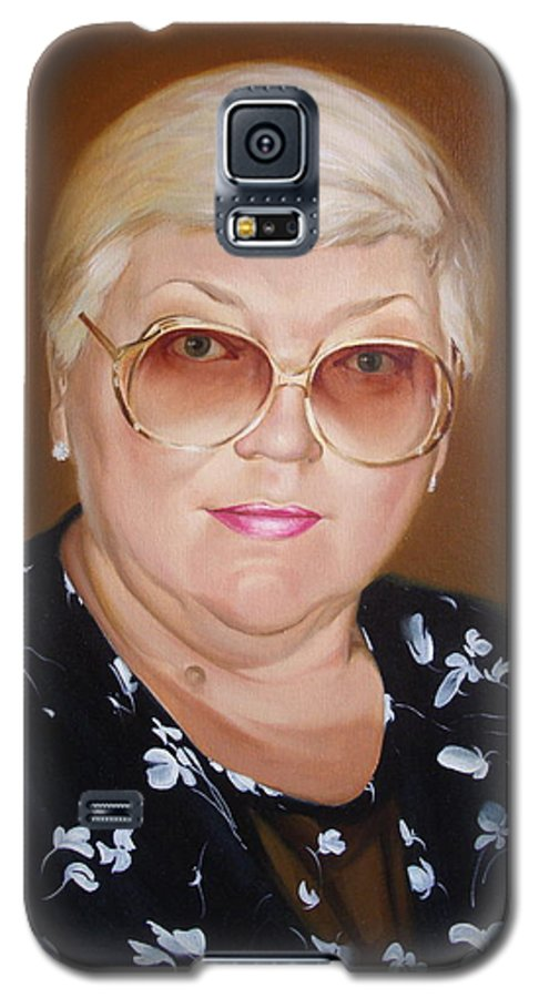 Art Galaxy S5 Case featuring the painting Woman 1 by Sergey Ignatenko
