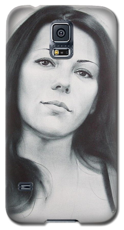 Art Galaxy S5 Case featuring the drawing Woman by Sergey Ignatenko