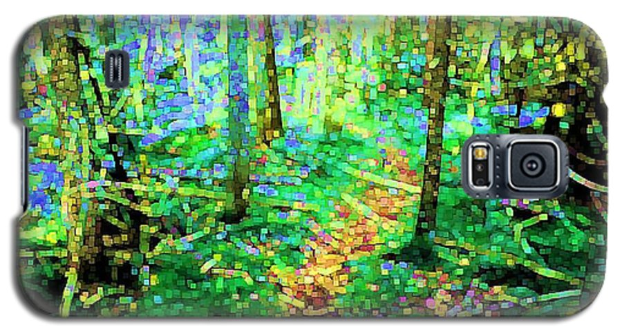 Nature Galaxy S5 Case featuring the digital art Wooded Trail by Dave Martsolf