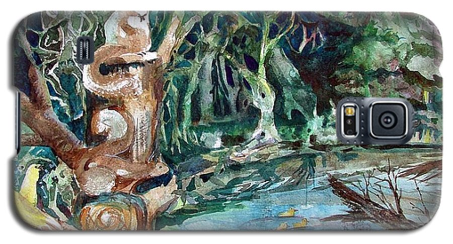 Squirrels Galaxy S5 Case featuring the painting Woodland Critters by Mindy Newman