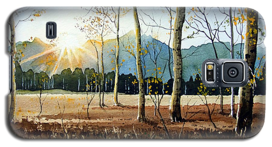Landscape Galaxy S5 Case featuring the painting Woodland Sunset by Paul Dene Marlor
