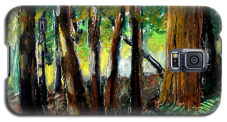 Livingston Trail Galaxy S5 Case featuring the drawing Woodland Trail by Michelle Calkins