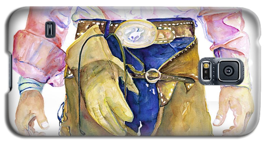 Cowboy Painting Galaxy S5 Case featuring the painting Wrangler by Pat Saunders-White