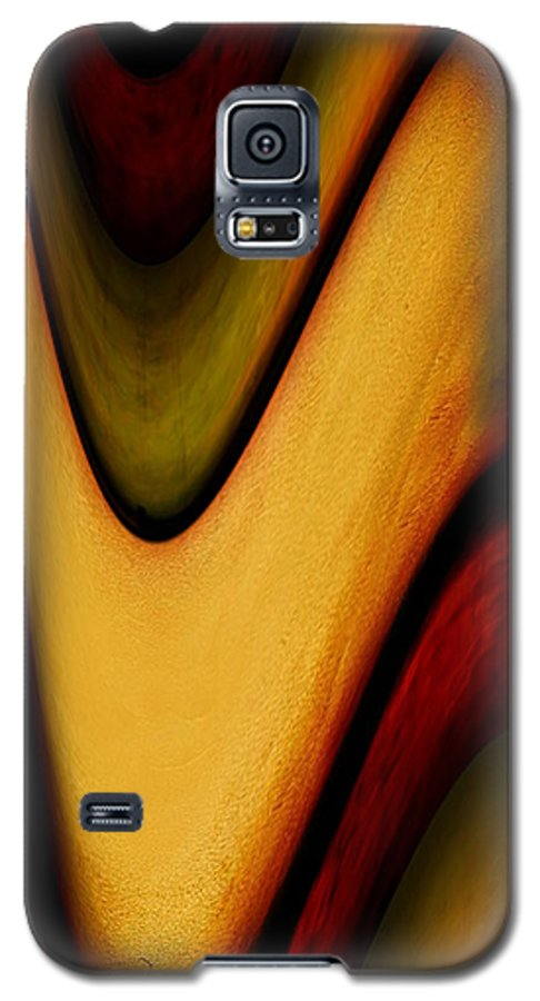 Wrapped Galaxy S5 Case featuring the painting Wrapped by Jill English
