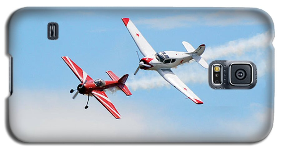 Airplanes Galaxy S5 Case featuring the photograph Yak 55 And Yak 18 by Larry Keahey