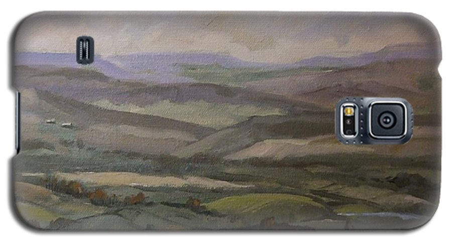 Landscape Water Trees Sky Hills Galaxy S5 Case featuring the painting Yakima Vista by Ruth Stromswold