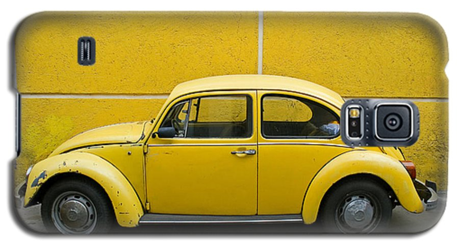 Yellow Galaxy S5 Case featuring the photograph Yellow Bug by Skip Hunt
