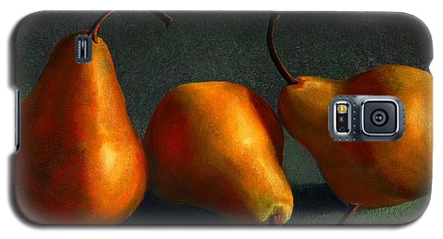 Still Life Galaxy S5 Case featuring the painting Yellow Pears by Frank Wilson
