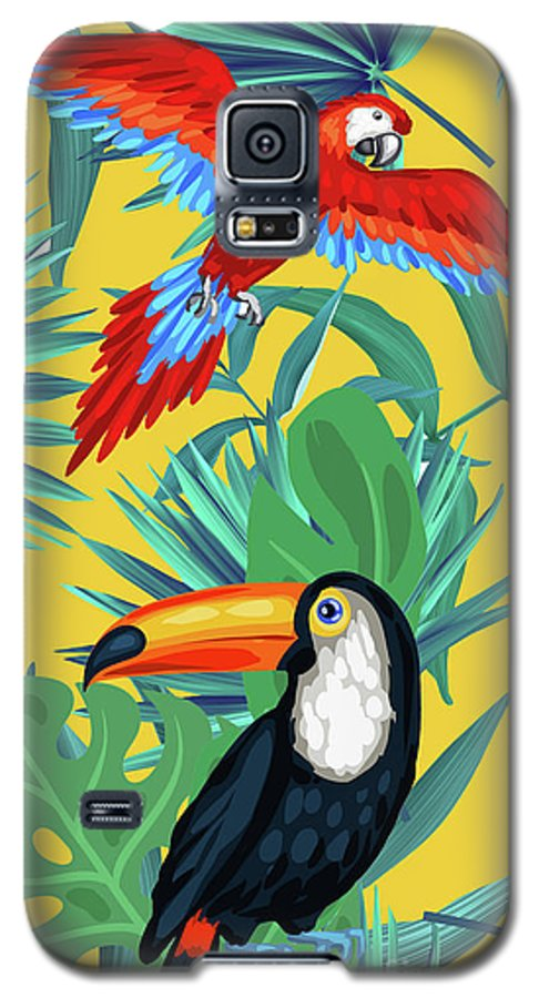 Summer Galaxy S5 Case featuring the photograph Yellow Tropic by Mark Ashkenazi