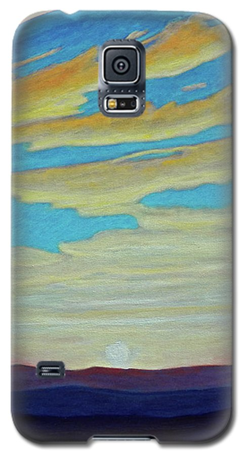 Landscape Galaxy S5 Case featuring the painting Yesterday by Brian Commerford