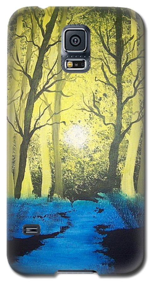 Forest Galaxy S5 Case featuring the painting You Cant See The Forest For The Trees by Laurie Kidd