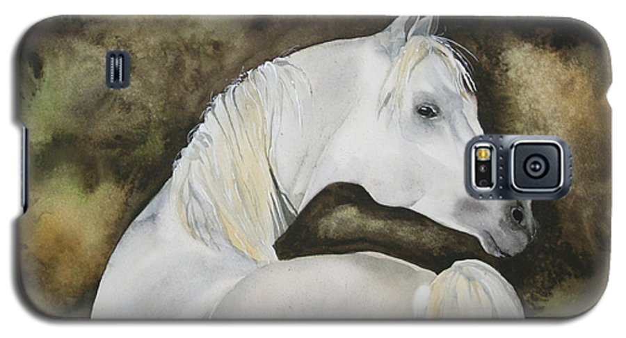 Horse Galaxy S5 Case featuring the painting You Talking To Me by Jean Blackmer