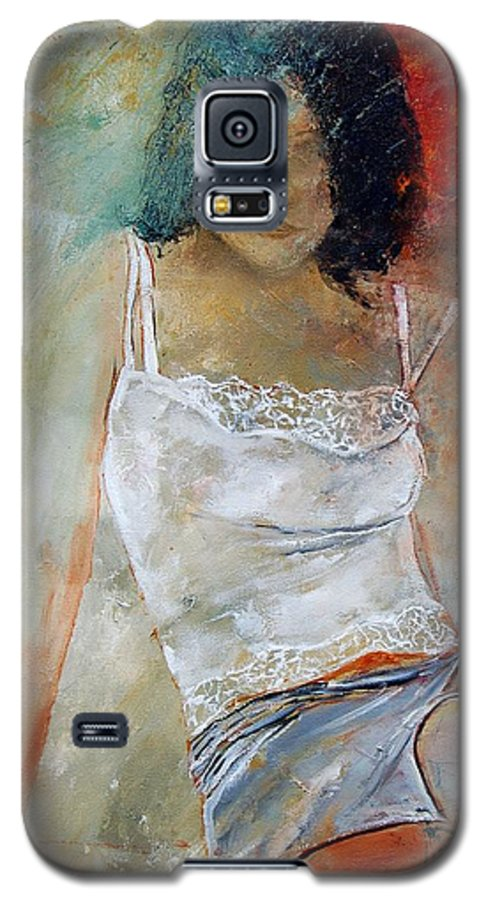 Nude Galaxy S5 Case featuring the painting Young Girl Sitting by Pol Ledent