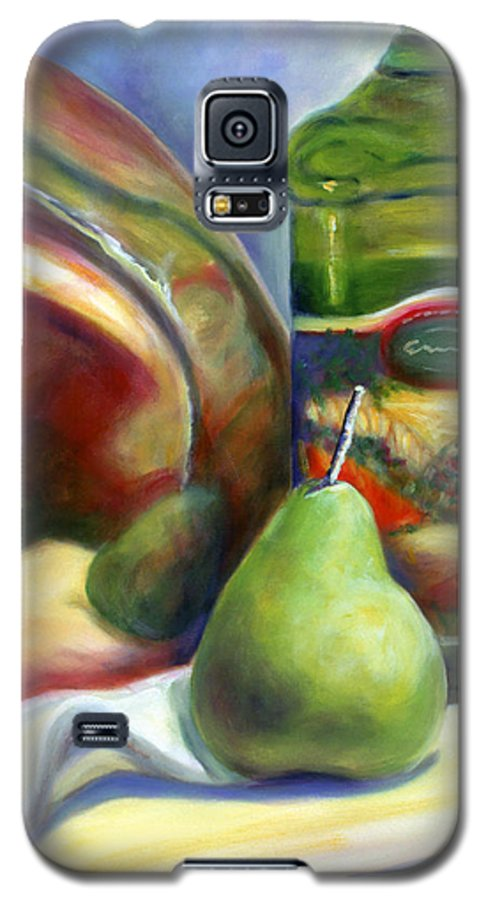 Copper Vessel Galaxy S5 Case featuring the painting Zabaglione Pan by Shannon Grissom