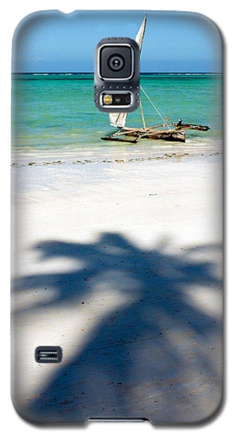 3scape Galaxy S5 Case featuring the photograph Zanzibar Beach by Adam Romanowicz