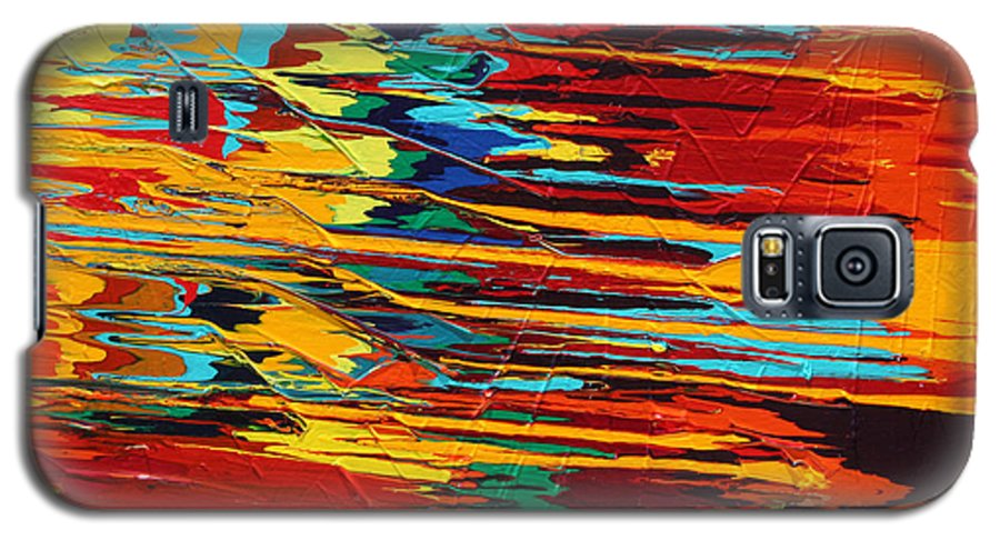 Fusionart Galaxy S5 Case featuring the painting Zap by Ralph White