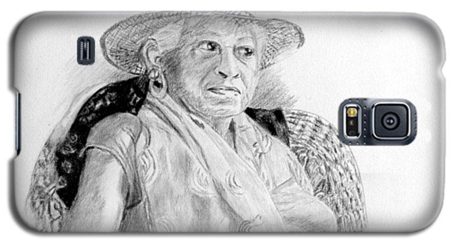 Portrait Galaxy S5 Case featuring the drawing Zelda by Quwatha Valentine