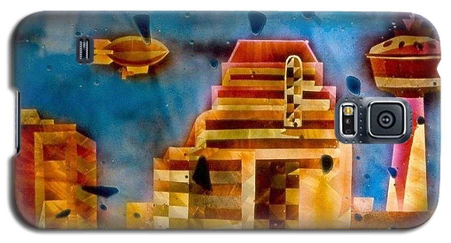Landscape Galaxy S5 Case featuring the painting Zepplins Detail by Rick Silas