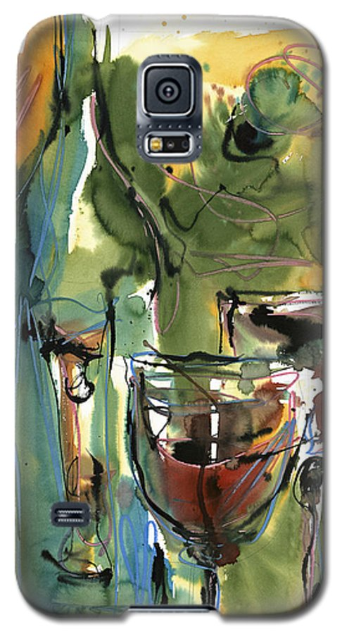 Wine Galaxy S5 Case featuring the painting Zin-findel by Robert Joyner