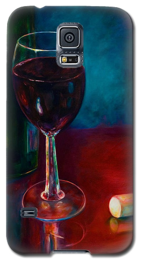 Wine Bottle Galaxy S5 Case featuring the painting Zinfandel by Shannon Grissom