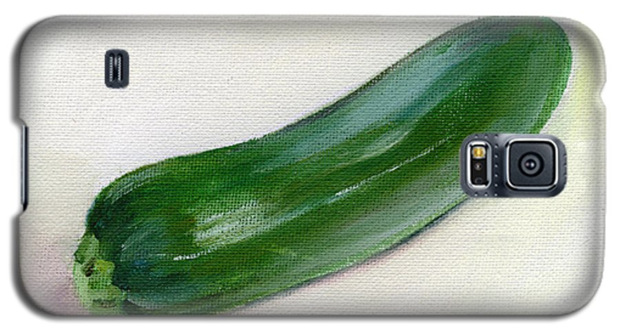 Food Galaxy S5 Case featuring the painting Zucchini by Sarah Lynch