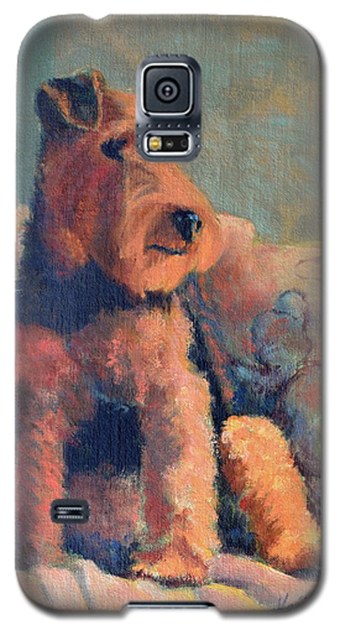Pet Galaxy S5 Case featuring the painting Zuzu by Keith Burgess