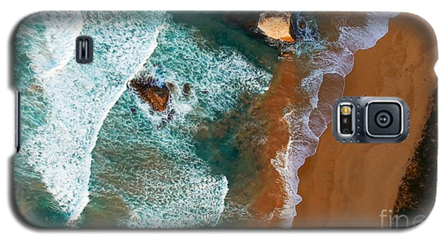 Cliff Galaxy S5 Case featuring the photograph Aerial View Of Twelve Apostles At Dawn by Pisaphotography