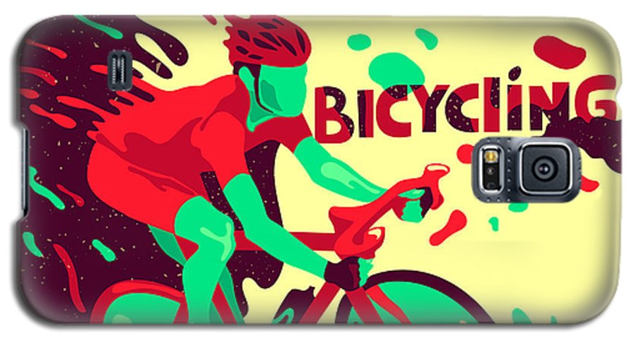 Competition Galaxy S5 Case featuring the digital art Bicycling. Healthy Lifestyle. Sports by Daria i