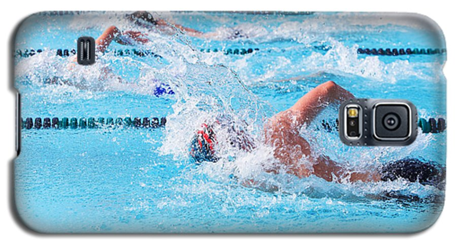 Compete Galaxy S5 Case featuring the photograph Freestyle Swimmers Racing by Suzanne Tucker