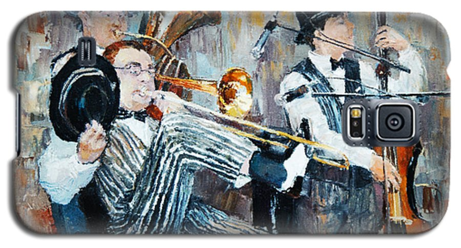 Play Galaxy S5 Case featuring the digital art Oil Painting, The Orchestra Plays by Maria Bo
