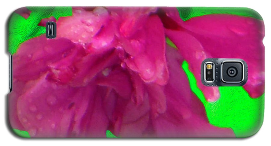 Rose Of Sharon Galaxy S5 Case featuring the photograph Rose Of Sharon Rain Drops by Rockin Docks