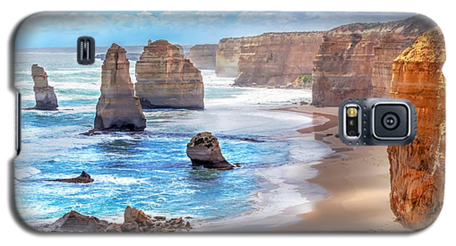 Beauty Galaxy S5 Case featuring the photograph Twelve Apostles And Orange Cliffs Along by Tero Hakala
