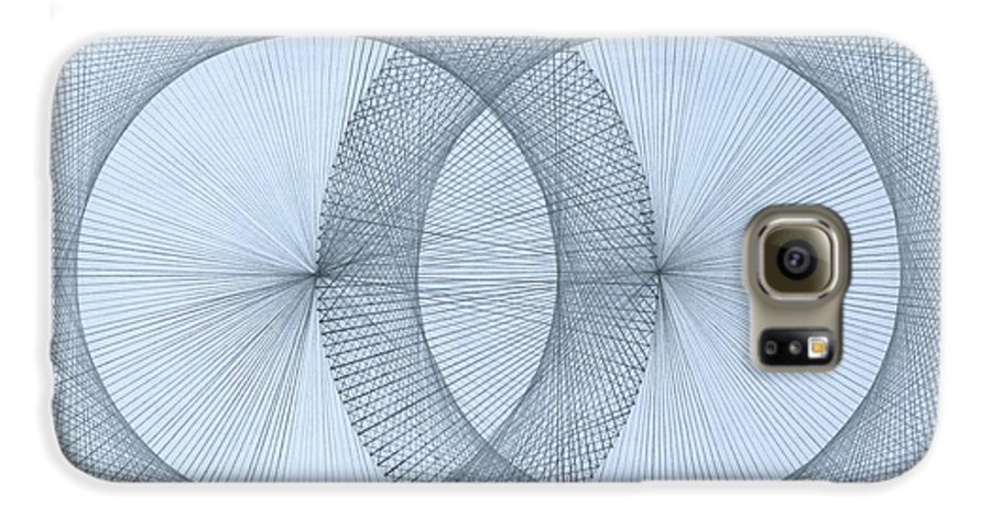 Fractal Galaxy S6 Case featuring the drawing Magnetism by Jason Padgett